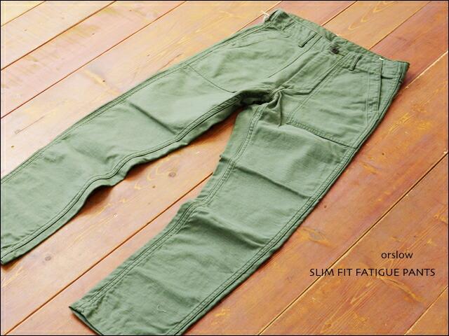 orslow[オアスロウ] SLIM FIT FATIGUE PANTS [01-5032-16] スリムフィット ファティーグパンツ MEN\'S _f0051306_16512752.jpg