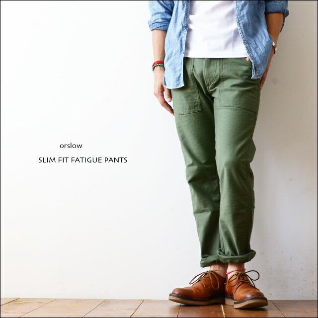 orslow[オアスロウ] SLIM FIT FATIGUE PANTS [01-5032-16] スリムフィット ファティーグパンツ MEN\'S _f0051306_16512759.jpg