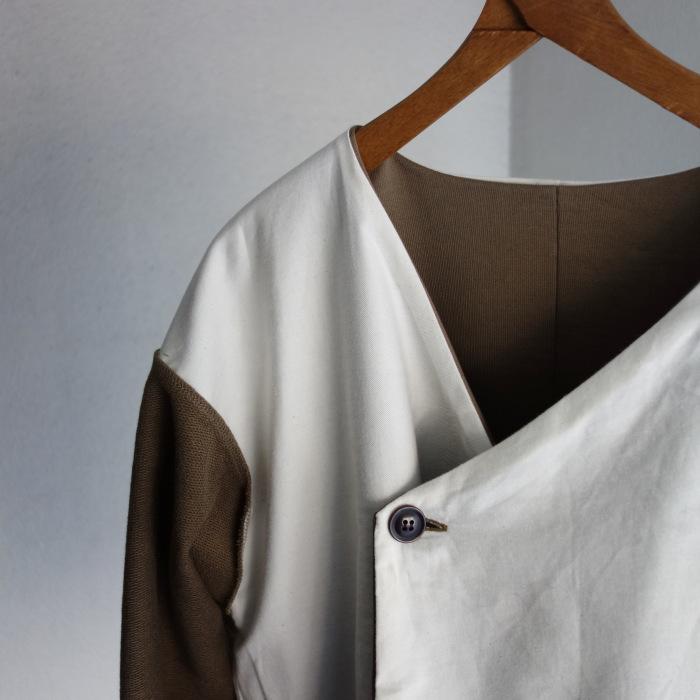 3月の製作 / classic volendam no-collar jacket_e0130546_17323653.jpg