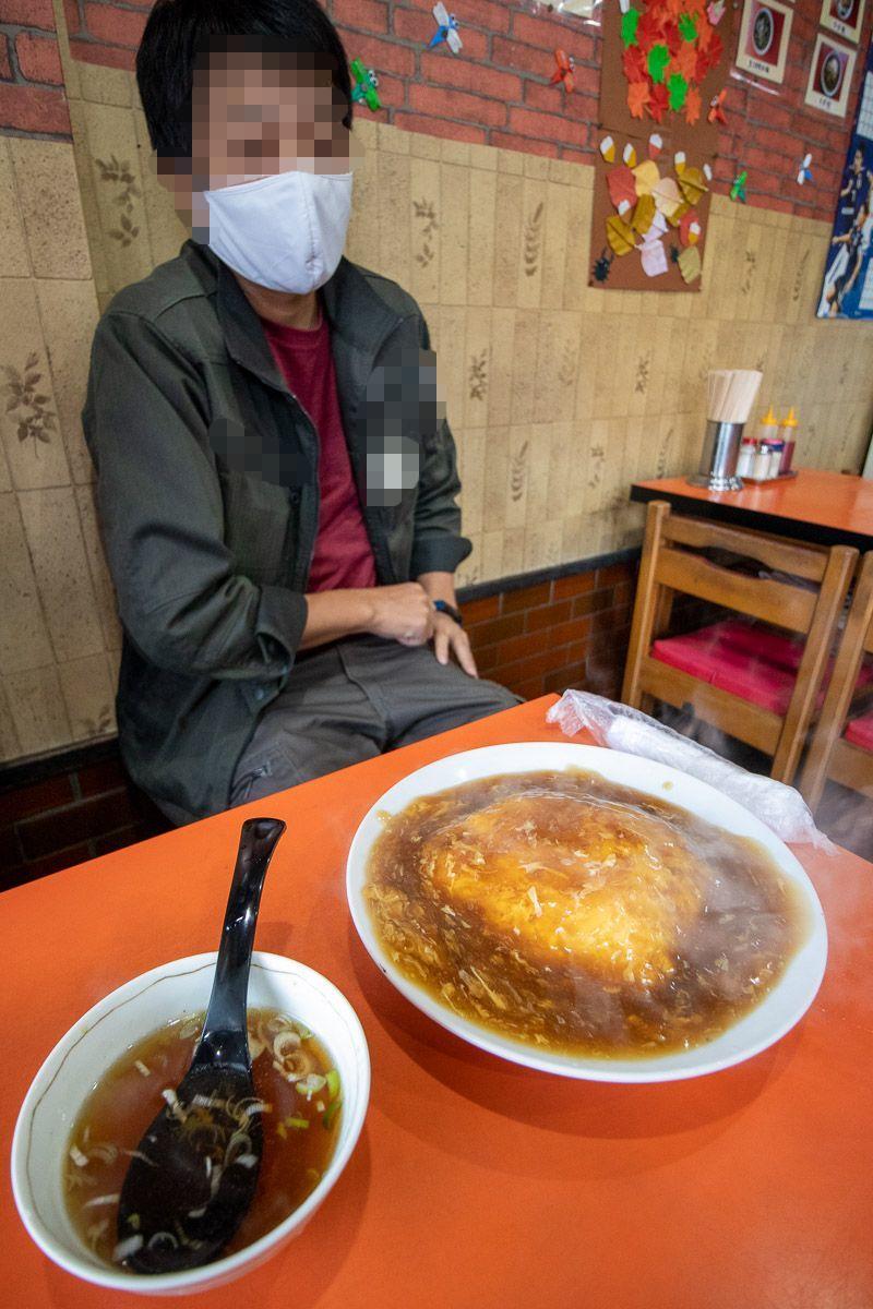 中華料理 天山でブタ丼_a0077663_15484501.jpg