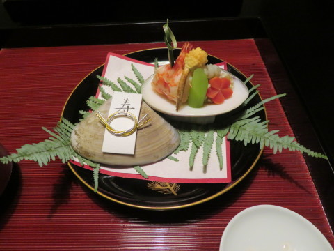 夕食、1月1日、翠の間、俵屋旅館にお邪魔。_d0019916_09445449.jpg