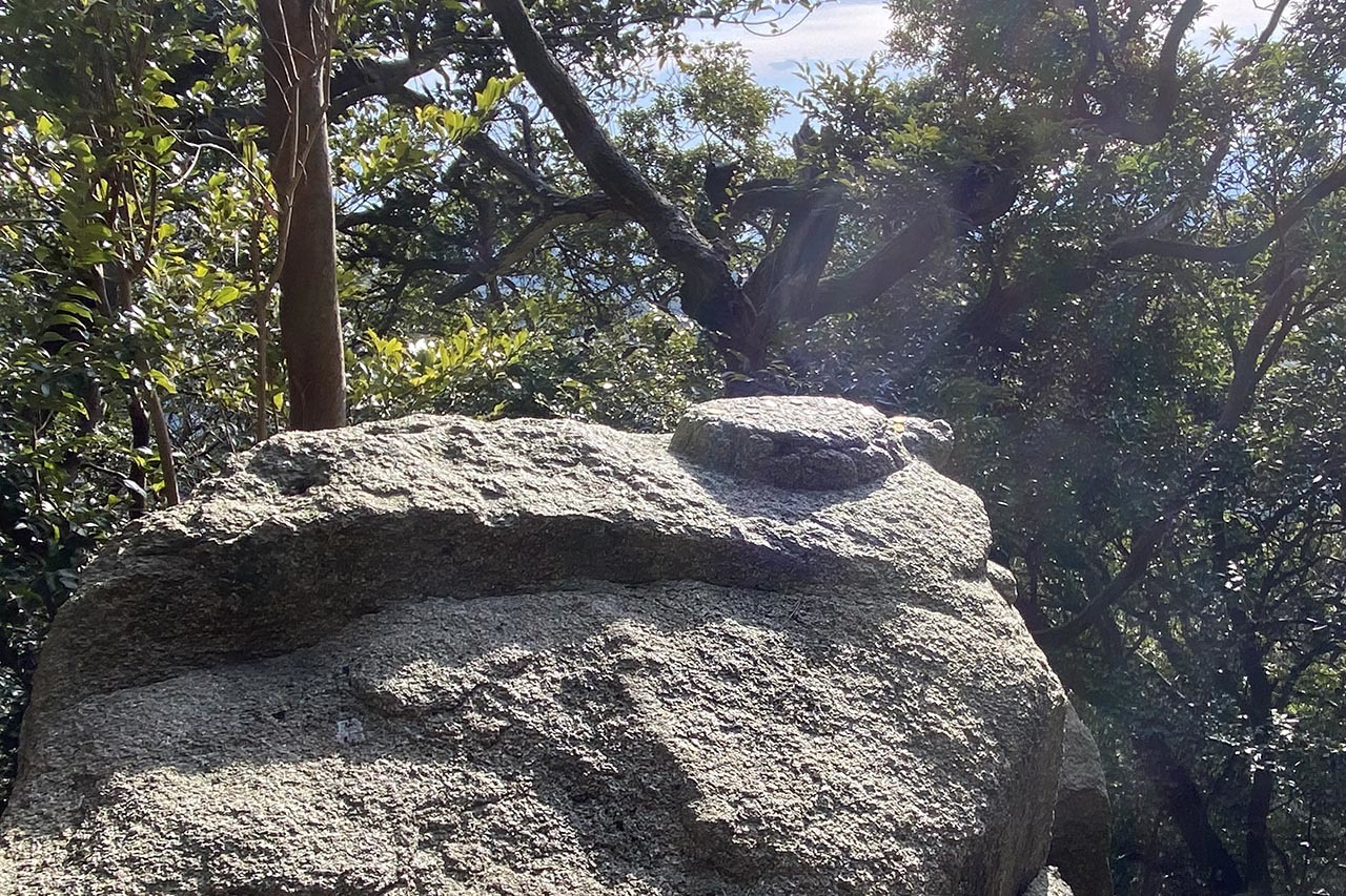 再度山の亀石_c0129047_18385817.jpg