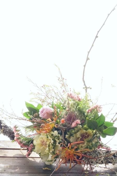 KACHAOさんのお正月花(ブーケ)_b0151911_23230848.jpg