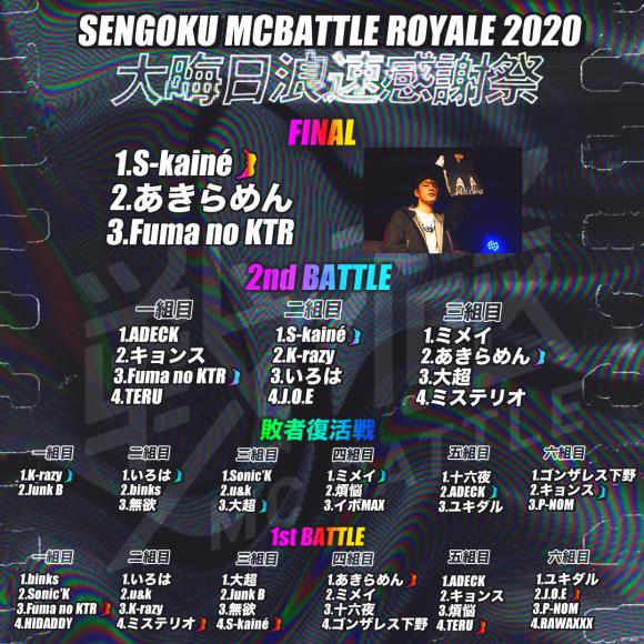12/31 戦極 MCBATTLE ROYAL 2020 浪花感謝祭 優勝は..._e0246863_01555605.jpg