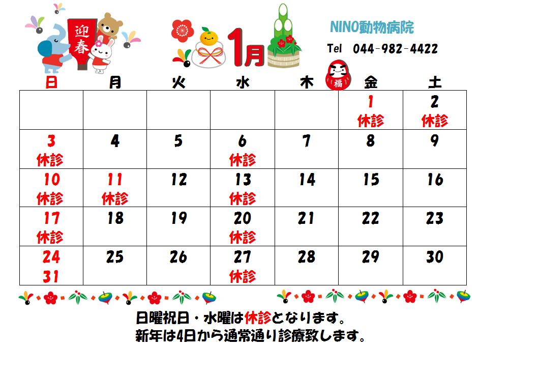 1月の診療日のお知らせ☆_e0288670_15532426.png