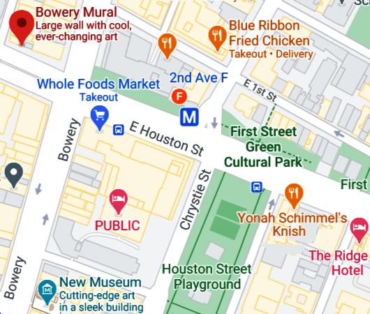 さすがNYで最も有名な壁画スポット、バウリー壁画(Bowery Mural)、横の隙間にもこんな壁画が・・・_b0007805_00443771.jpg