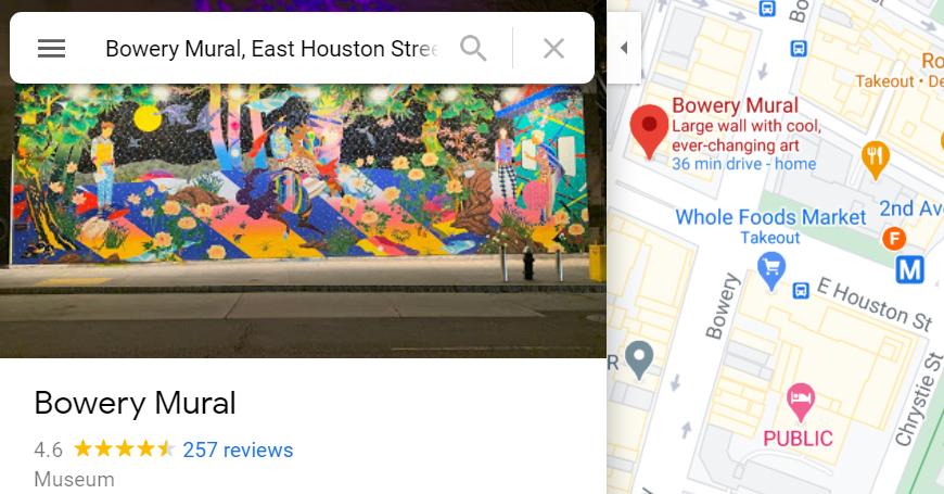 さすがNYで最も有名な壁画スポット、バウリー壁画(Bowery Mural)、横の隙間にもこんな壁画が・・・_b0007805_23484434.jpg