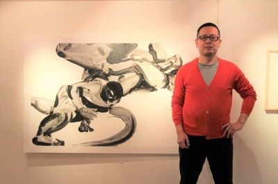 相撲力士の絵画作品に取り組む木村浩之展開催中!_d0178431_18353106.jpg