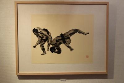 相撲力士の絵画作品に取り組む木村浩之展開催中!_d0178431_18435674.jpg