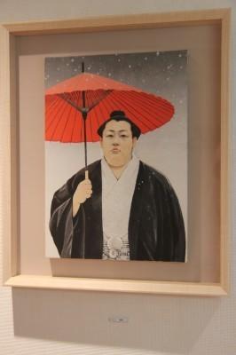 相撲力士の絵画作品に取り組む木村浩之展開催中!_d0178431_18440679.jpg