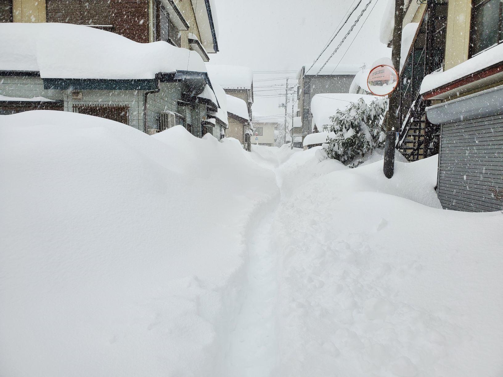 大雪の朝の道づくり_b0304722_18305232.jpg