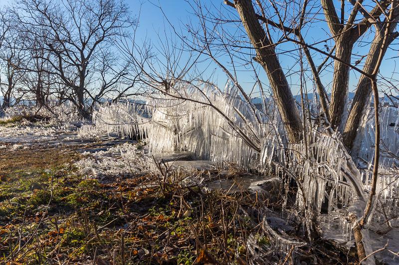 飛沫氷のある朝の情景(琵琶湖)_f0155048_18435194.jpg