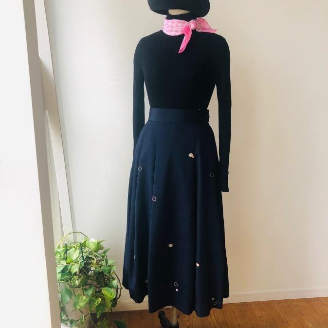 着物リメイク・お召しの着物からマキシスカート_d0127925_10430608.jpg