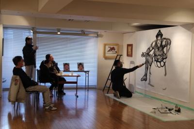 相撲力士の絵画作品に取り組む木村浩之展開催中!_d0178431_01121594.jpg