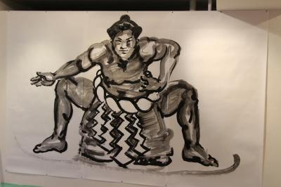 相撲力士の絵画作品に取り組む木村浩之展開催中!_d0178431_01125344.jpg