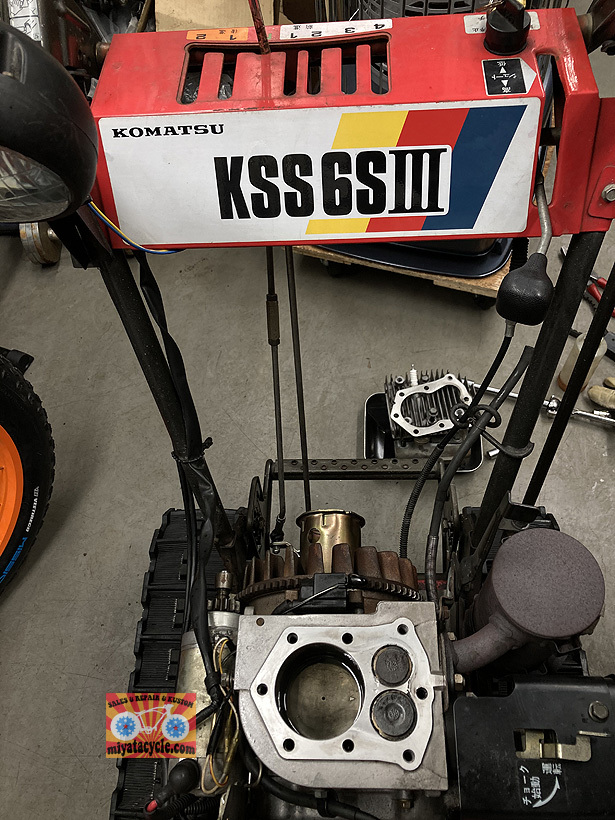 コマツKSS6SⅢのエンジン焼き付き_e0126901_08520674.jpg