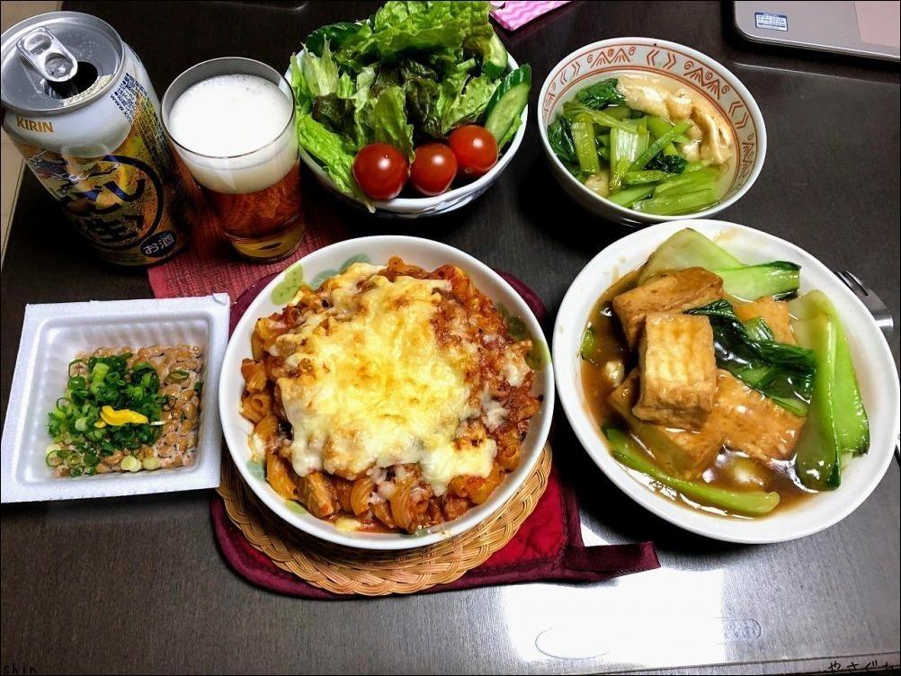 210110実家昼飯で晩は鯖のトマトマカロニ_a0352827_18065018.jpg