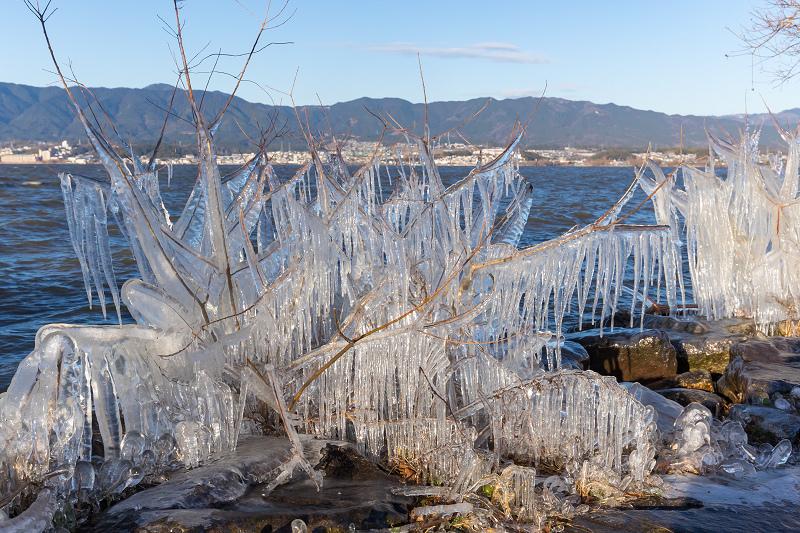 飛沫氷の造形美_f0155048_22273712.jpg