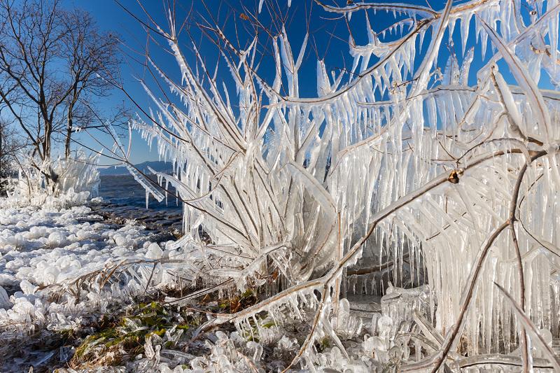 飛沫氷の造形美_f0155048_22293483.jpg