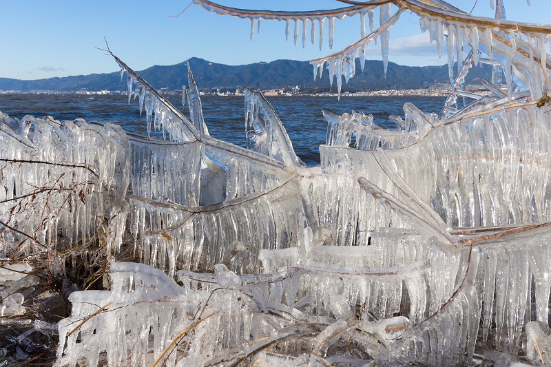 飛沫氷の造形美_f0155048_22303588.jpg