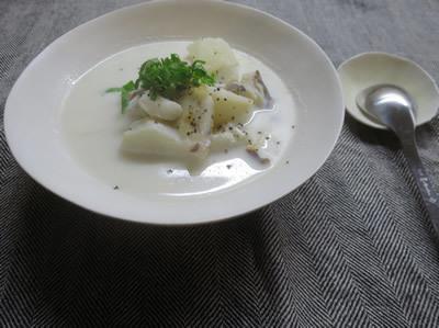 蕪のミルク煮と炒飯_e0262651_17423578.jpg