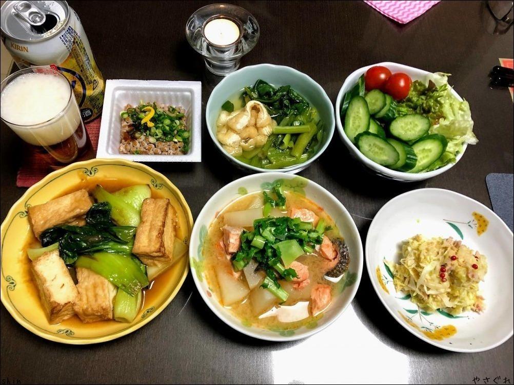 210111鮭大根の味噌風味煮とランチ焼肉_a0352827_15195239.jpg
