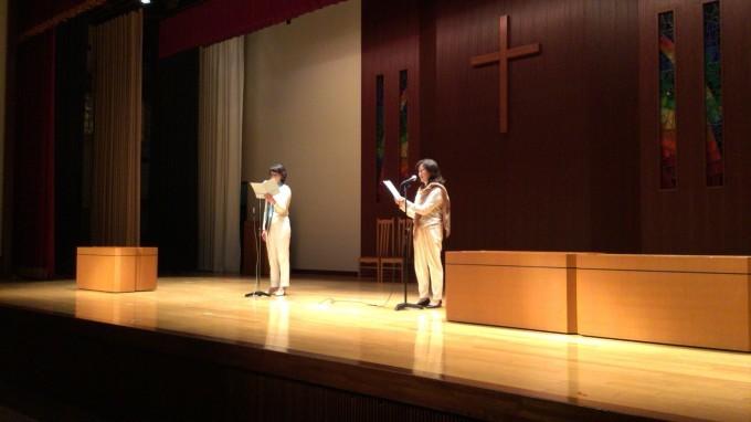 素敵な礼拝堂で朗読〜玉川聖学院〜_e0088256_22174914.jpeg