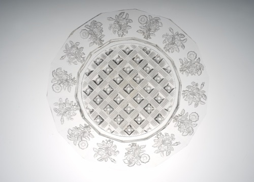 BACCARAT FLOWER DESIGN PRESS PLATE_c0108595_23493519.jpeg