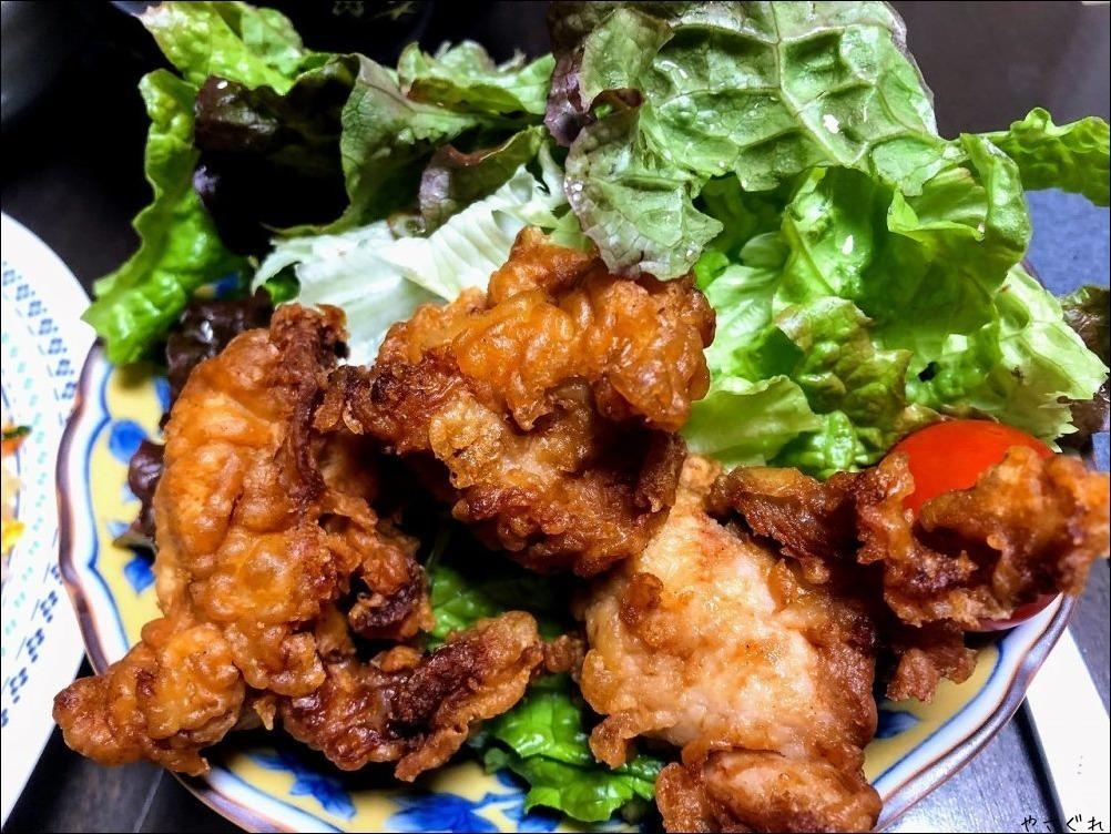 210112ノンアル日で焼飯と鶏の唐揚げ_a0352827_11145403.jpg