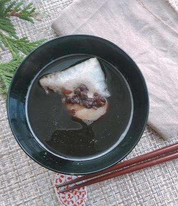 黒豆の煮汁を加えた「ぜんざい」_b0271640_04294415.jpg