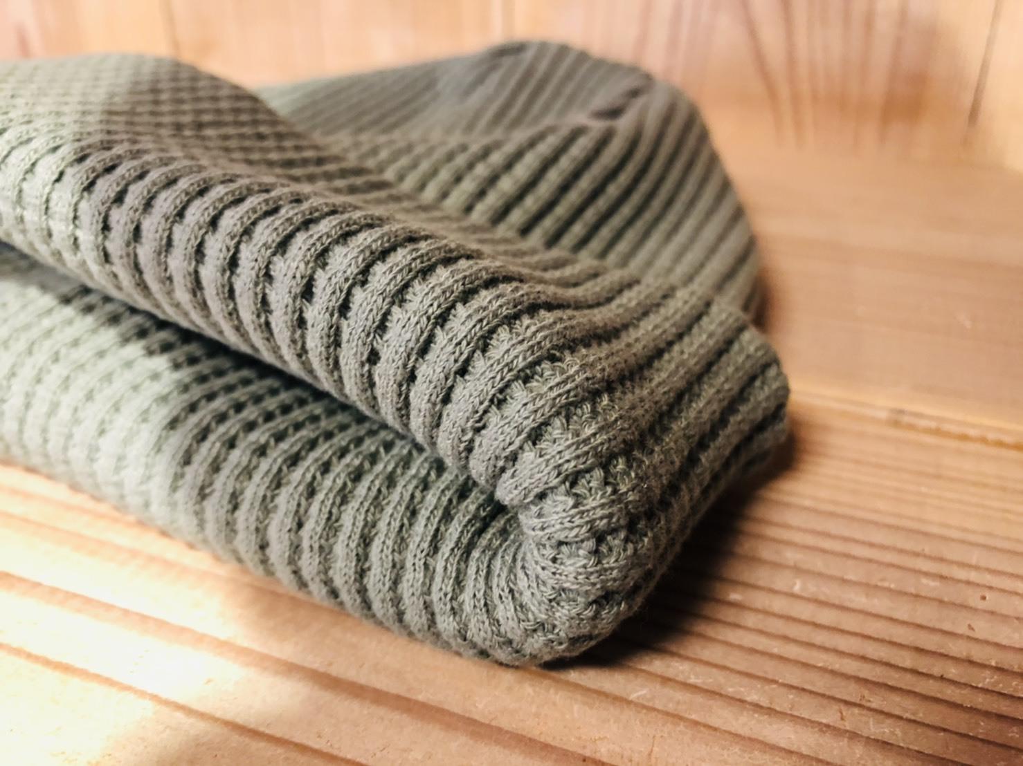 ■Waffle Knit Cap /Jackman_b0139233_11192302.jpg