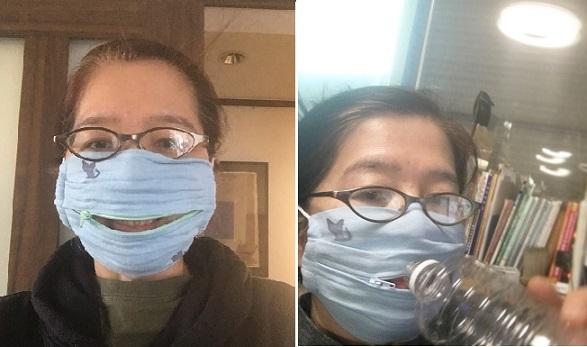 ウォーキング(治療)を助けるファスナー付きマスク_b0019674_00414268.jpg