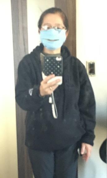 ウォーキング(治療)を助けるファスナー付きマスク_b0019674_00415023.jpg
