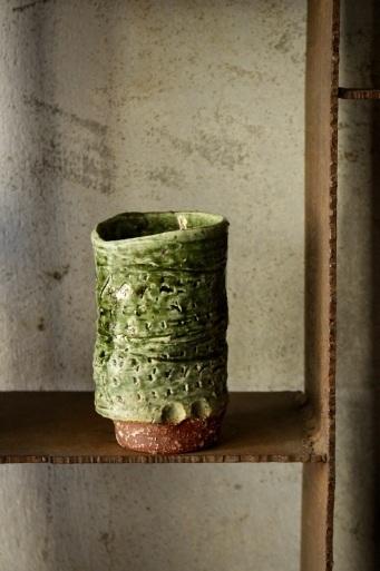 緑釉筒カップ_d0111039_14090505.jpeg