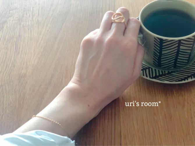 不思議デザインの素敵リング。 - uri's room* 心地よくて美味しい暮らし