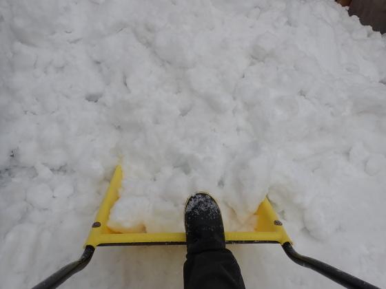 今季二度目のぷち雪おろし_f0118332_22512115.jpg