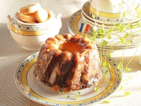 日々のお菓子作り~オレンジとアーモンドのクグロフ~_c0213947_15221431.jpg