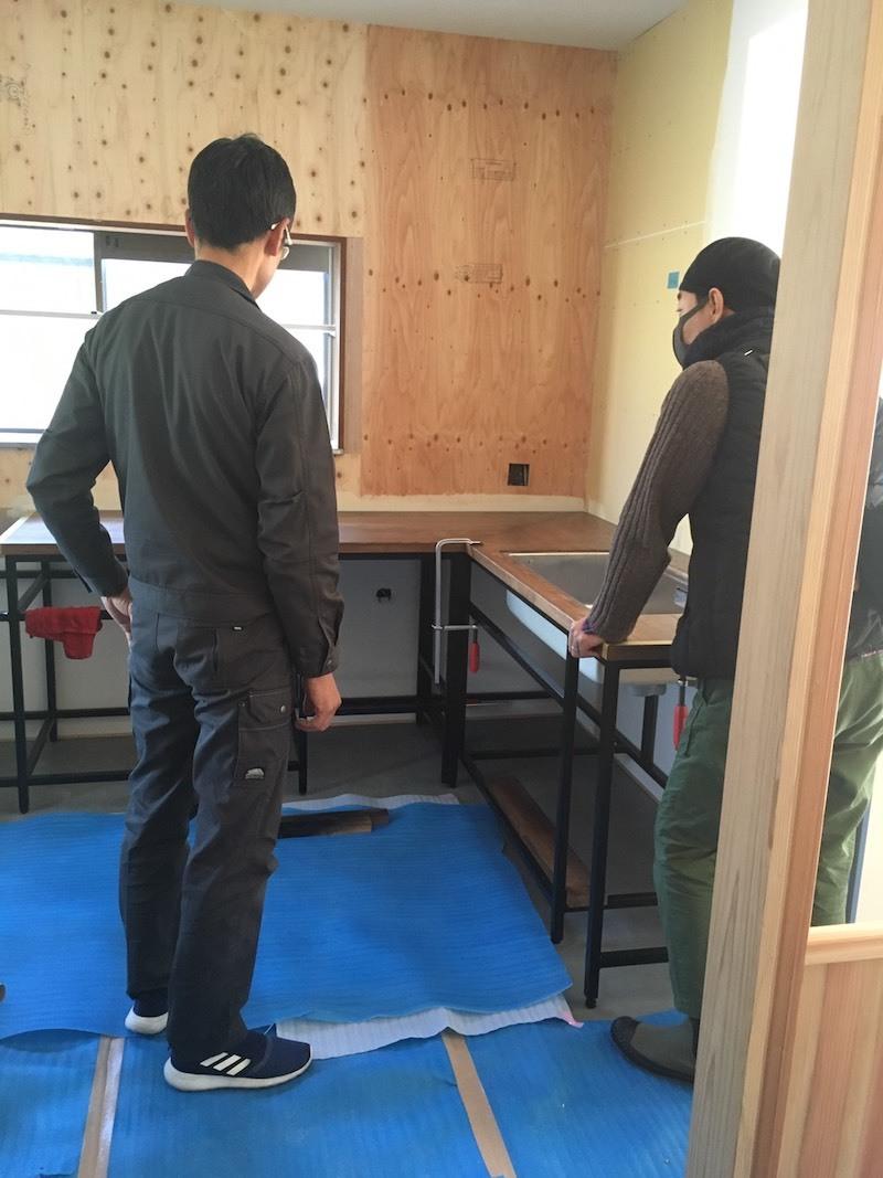 オリジナルキッチン設置完了。_f0176239_07323159.jpg
