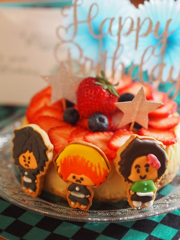 私、頑張った!!鬼滅の刃アイシングクッキーケーキ!!_e0362276_10581201.jpg