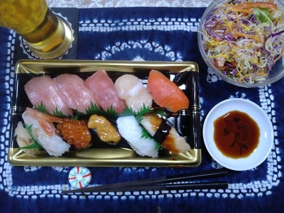 1/20 サントリーからだを想うオールフリー、にぎり寿司、おでん@自宅_b0042308_21135511.jpg