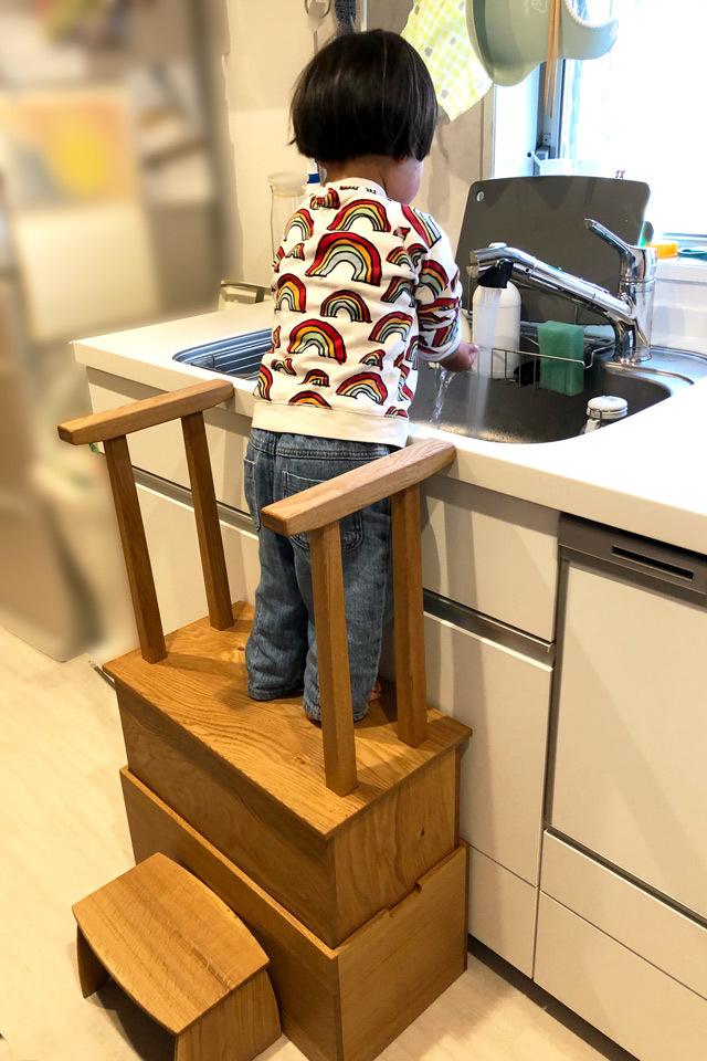 踏み台 キッチン・お手伝い・歯磨きに_c0138410_18211351.jpg