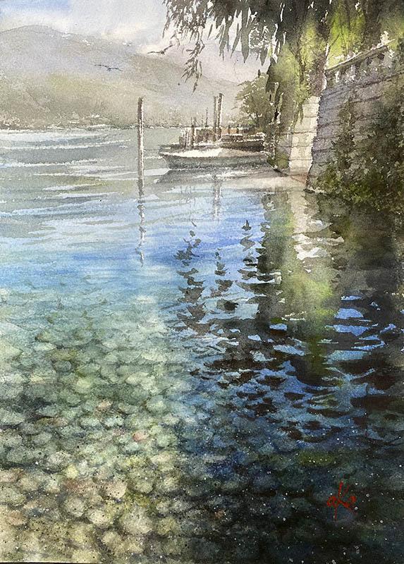 2019イタリアツアー オルタサンジュリオ - 赤坂孝史の水彩画