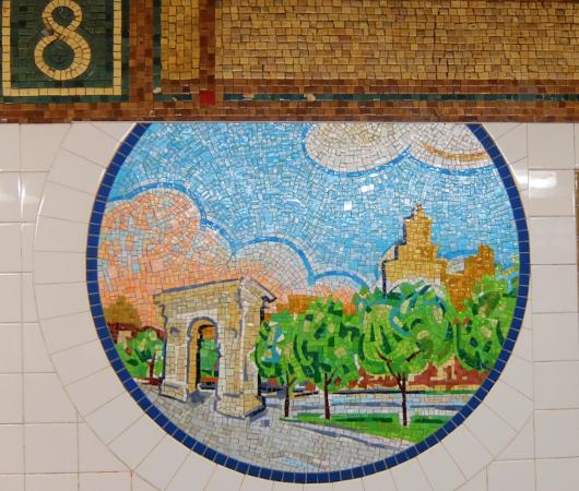 ニューヨークの地下鉄名物、駅のホームのタイル・アート_b0007805_09041715.jpg