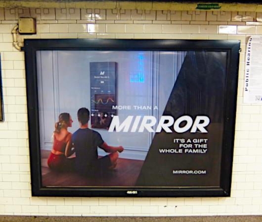 ミラー(Mirror)の広告がNYの地下鉄駅ホームをジャック_b0007805_21435040.jpg