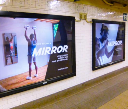 ミラー(Mirror)の広告がNYの地下鉄駅ホームをジャック_b0007805_21440239.jpg