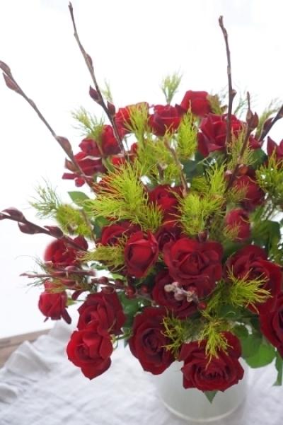 赤い薔薇で気持ちも高揚(^^♪_b0151911_23380042.jpg