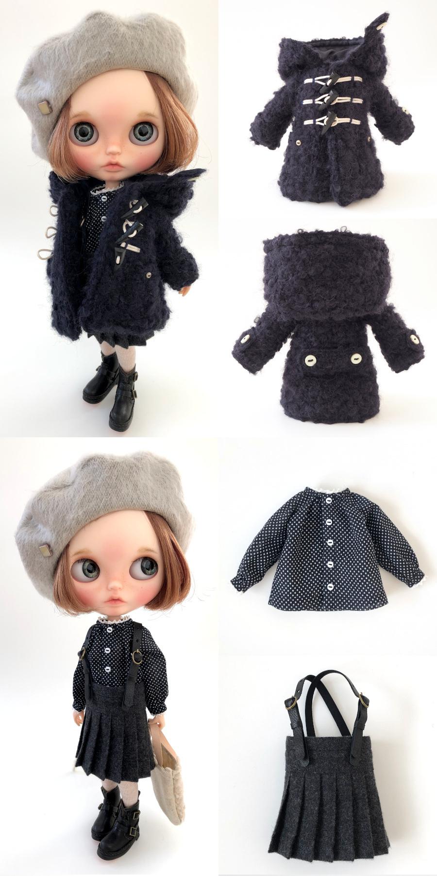 *lucalily * dolls clothes* Loop Tweed Duffle Coat Set *_d0217189_12153239.jpeg