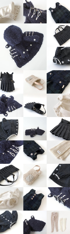 *lucalily * dolls clothes* Loop Tweed Duffle Coat Set *_d0217189_12154393.jpg