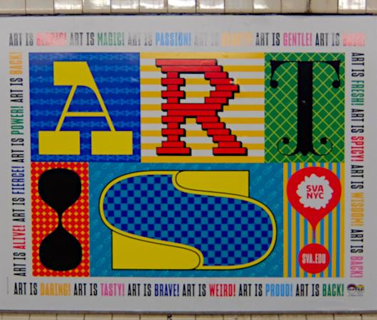 NYの地下鉄ホームで見かけたアート・スクール(School of Visual Arts)の広告_b0007805_08013252.jpg