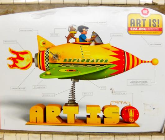 NYの地下鉄ホームで見かけたアート・スクール(School of Visual Arts)の広告_b0007805_08014892.jpg